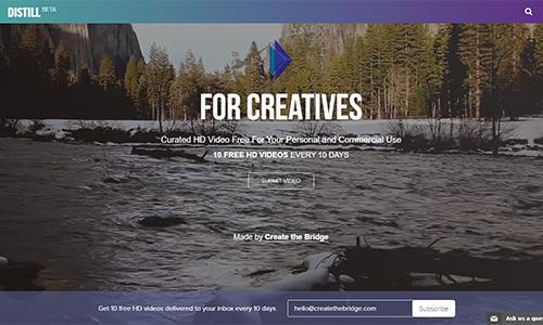 Distill video background